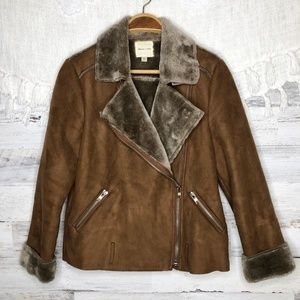 Anthropologie Silence + Noise faux suede jacket